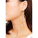 ราคาถูก ตุ้มหู-สำหรับผู้หญิง ต่างหู ต่างหูห้อย ต่างหู เครื่องประดับ สีทอง / สีเงิน สำหรับ ปาร์ตี้ วันครบรอบ ทุกวัน บาร์ เทศกาล 1 คู่