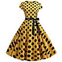 Χαμηλού Κόστους Κραγιόν-Γυναικεία Βασικό Γραμμή Α Φόρεμα - Συνδυασμός Χρωμάτων Πάνω από το Γόνατο