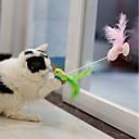 povoljno Igračke za mačku-Interaktivan Teasers Plišane igrače Mačke Ljubimci Igračke za kućne ljubimce 1pc Pet Friendly Prijenosno Lijep Silikon Terilen Poklon