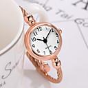 ราคาถูก สร้อยคอ-สำหรับผู้หญิง นาฬิกาสร้อยข้อมือ นาฬิกาอิเล็กทรอนิกส์ (Quartz) สไตล์วินเทจ สไตล์ สแตนเลส เงิน / ทอง / Rose Gold 30 m กันน้ำ Creative ดีไซน์มาใหม่ ระบบอนาล็อก คลาสสิก แฟชั่น - สีดำ ทองกุหลาบ ขาว