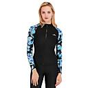 ราคาถูก ฮาร์ดไดรฟ์ภายนอก-SBART สำหรับผู้หญิง Rash Guard Rash Guard Swim shirt ระบายอากาศ แห้งเร็ว แขนยาว ซิปรูดด้านหน้า - การว่ายน้ำ Surfing Snorkeling ลายต่อ ฤดูใบไม้ร่วง ฤดูใบไม้ผลิ ฤดูร้อน / ผสมยางยืดไมโคร