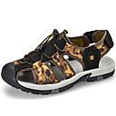 ราคาถูก รองเท้าผ้าใบผู้ชาย-สำหรับผู้ชาย รองเท้าสบาย ๆ ผ้าใบ / หนัง ฤดูใบไม้ผลิ / ฤดูร้อน Sporty / ไม่เป็นทางการ รองเท้าแตะ ระบายอากาศ สีดำ / สีน้ำตาล / กลางแจ้ง