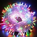 ราคาถูก สายไฟ LED-100M ไฟสาย 600 ไฟ LED ขาวเย็น / RGB / น้ำเงิน Waterproof / Creative / ปาร์ตี้ 220-240 V 1set / IP44