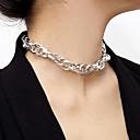 billiga Modeörhängen-Dam Halsring Halsband Aluminum Guld Silver 40 cm Halsband Smycken 1st Till Dagligen Skola Street Helgdag Festival