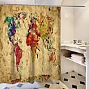 olcso Zuhanyfüggönyök-Shower Curtains & Hooks Kortárs Műanyagok / Poliészter Vízálló / Kreatív / Új design