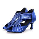 Χαμηλού Κόστους Μπότες Χορού-Γυναικεία Παπούτσια Χορού Συνθετικά Παπούτσια χορού λάτιν Κόψιμο Τακούνια Τακούνι καμπάνα Εξατομικευμένο Μαύρο / Κόκκινο / Μπλε / Επίδοση / Δέρμα