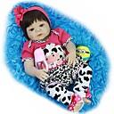 billiga Modeörhängen-FeelWind Reborn-dockor Babypojkar Babyflickor 22 tum Full Body Silicone Silikon - Barn Förtjusande Vackert Unge Unisex Leksaker Present