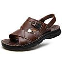 ราคาถูก รองเท้าแตะผู้ชาย-สำหรับผู้ชาย รองเท้าสบาย ๆ แน๊บป้า Leather ฤดูร้อน รองเท้าแตะ สีดำ / สีน้ำตาลอ่อน / น้ำตาลเข้ม