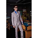billiga Kostymer-Aska Randig Standardpassform Bomull / Polyester Kostym - Trubbig Singelknäppt Två knappar / kostymer