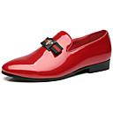 ราคาถูก รองเท้าแตะ & Loafersสำหรับผู้ชาย-สำหรับผู้ชาย สไตล์อินเดียนแดง หนังสิทธิบัตร ฤดูใบไม้ผลิ / ตก ไม่เป็นทางการ / อังกฤษ รองเท้าส้นเตี้ยทำมาจากหนังและรองเท้าสวมแบบไม่มีเชือก ไม่ลื่นไถล สีดำ / ไวน์ / ฟ้า / หินประกาย / พรรคและเย็น
