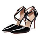 povoljno Ženske cipele s petom-Žene Lakirana koža Proljeće Cipele na petu Stiletto potpetica Bijela / Pink / Badem