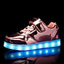 זול LED Shoes-בנים נעליים זוהרות PU נעלי ספורט ילדים / מתבגר זהב / כסף / ורוד סתיו / גומי