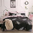 ราคาถูก ปลอกผ้าห่มลายดอกไม้-ชุดผ้านวมคลุม สีพื้น / ร่วมสมัย Polyster Printed 4 ชิ้นBedding Sets