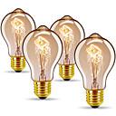 Χαμηλού Κόστους Πυράκτωσης-4pcs 40 W E26 / E27 A60(A19) Θερμό Λευκό 2300 k Ρετρό / Με ροοστάτη / Διακοσμητικό Λαμπτήρας πυρακτώσεως Vintage Edison 220-240 V