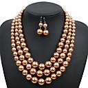 Χαμηλού Κόστους Κοσμήματα Μαλλιών-Γυναικεία Κρεμαστό Σκουλαρίκι Coliere cu Perle Γεωμετρική Σχήμα U Απλός Γλυκός Μοντέρνα χαριτωμένο στυλ Κομψό Απομίμηση Μαργαριταριού Σκουλαρίκια Κοσμήματα Μαύρο Ανοικτό / Κόκκινο / Ανοικτό Καφέ Για