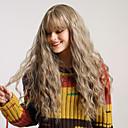billiga Syntetisk hårförlängning-Syntetiska peruker Naturligt vågigt Stora vågor Rak lugg Peruk Blond Väldigt länge Ljusbrun Grå Blond lavandel Syntetiskt hår 26 tum Dam Vattenfall Luktfri Moderiktig design Blond BLONDE UNICORN