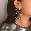 ราคาถูก ตุ้มหู-สำหรับผู้หญิง Drop Earrings ปลาดาว ทองชุบ ต่างหู เครื่องประดับ สีดำ / สีชมพู / สีฟ้า สำหรับ งานแต่งงาน การหมั้น Street ฮอลิเดย์ คลับ 1 คู่