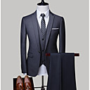 billige Tilbehør til herrer-Herre Store størrelser drakter, Ensfarget Skjortekrage Polyester Lyseblå / Marineblå / Lyseblå