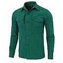 billige Skjorter-Esdy Herre Skjorte til turbruk Langermet Utendørs Hold Varm Svettereduserende Multi Pocket Skjorte Høst Vår Terylene Grønn Blå Grå Klatring