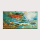 povoljno Slike za cvjetnim/biljnim motivima-Hang oslikana uljanim bojama Ručno oslikana - Sažetak Klasik Moderna Bez unutrašnje Frame / Valjani platno