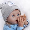 billige Reborn-dukker-NPKCOLLECTION NPK DOLL Reborn-dukker Reborn Toddler Doll 24 tommers Silikon Vinyl - liv som Nuttet Gave Barnesikker Ikke Giftig Håndhåndterte øyenvipper Barne Unisex / Jente Leketøy Gave / CE