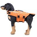 ราคาถูก ปลอกคอ สายจูง สายรัดสำหรับสุนัข-สุนัข เสื้อชูชีพ Dog Clothes ส้ม เครื่องแต่งกาย สุนัข Labrador Poly / Cotton Blend สัตว์ รูปสัตว์ S M L