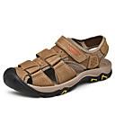 ราคาถูก รองเท้าผ้าใบผู้ชาย-สำหรับผู้ชาย รองเท้าสบาย ๆ แน๊บป้า Leather ตก / ฤดูร้อนฤดูใบไม้ผลิ Sporty / ไม่เป็นทางการ รองเท้าแตะ ระบายอากาศ สีดำ / สีน้ำตาล / กลางแจ้ง
