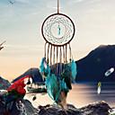 billige Veggdekor-håndlagde drømfangere med fjærvegg hengende dekorasjon dekorative dekor ornament