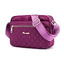 ราคาถูก กระเป๋า Totes-สำหรับผู้หญิง ซิป ไนลอน / สังเคราะห์ Crossbody Bag สีทึบ สีเทา / สีม่วง / สีกากี / ฤดูใบไม้ร่วง & ฤดูหนาว