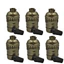 baratos Luminárias de Braço-oylyw 6 pcs e26 / e27 100-240 v diy acessório bulbo de alumínio lâmpada soquete