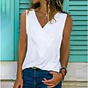 ราคาถูก กระเป๋าวิ่ง-สำหรับผู้หญิง ขนาดพิเศษ เสื้อกล้าม ระบาย คอวี สีพื้น สีเทา / ฤดูใบไม้ผลิ / ฤดูร้อน / ตก