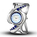 ราคาถูก สร้อยคอ-สำหรับผู้หญิง นาฬิกาสร้อยข้อมือ นาฬิกาอิเล็กทรอนิกส์ (Quartz) เงิน Creative นาฬิกาใส่ลำลอง ระบบอนาล็อก ไม่เป็นทางการ แฟชั่น - สีดำ ทับทิม สีแดงชมพู