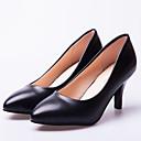 ราคาถูก รองเท้าส้นสูงผู้หญิง-สำหรับผู้หญิง PU ฤดูใบไม้ผลิ & ฤดูใบไม้ร่วง รองเท้าส้นสูง ส้น Stiletto สีดำ