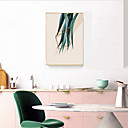 זול עיצוב וקישוט לקיר-קאנבס ממוסגר תמונת שמן ממוסגרת - פרחוני / בוטני פלסטיק ציור שמן וול ארט