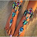 ราคาถูก กระเป๋าสะพายข้าง-สำหรับผู้หญิง รองเท้าเท้าเปล่า เกี่ยวกับยุโรป เลียนแบบเพชร สร้อยข้อเท้า เครื่องประดับ สีดำ / สีเงิน / ฟ้า สำหรับ ทุกวัน