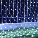 Χαμηλού Κόστους Christmas Stickers-6 * 4 μέτρα Φώτα σε Κορδόνι 800 LEDs RGB / Άσπρο / Μπλε Αδιάβροχη / Δημιουργικό / Πάρτι 220-240 V 1set / IP44