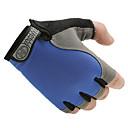 ราคาถูก เสื้อผ้ากีฬา-ถุงมือขี่จักรยาน Road Cycling ระบายอากาศ ป้องกันการลื่นล้ม แห้งเร็ว สวมใส่ได้ Fingerless ถุงมือแบบครึ่งมือ กิจกรรมและถุงมือสำหรับกีฬา ตาข่าย เจลซิลิโคน สีดำ สีเทา น้ำเงินท้องฟ้า สำหรับ ผู้ใหญ่