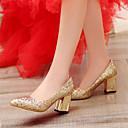 Χαμηλού Κόστους Γυναικεία παπούτσια γάμου-Γυναικεία Συνθετικά Άνοιξη & Χειμώνας Γαμήλια παπούτσια Κοντόχοντρο Τακούνι Μυτερή Μύτη Πούλιες Χρυσό / Ασημί / Κόκκινο / Γάμου / Πάρτι & Βραδινή Έξοδος