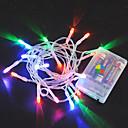 baratos Iluminação Noturna & Decoração-2m Cordões de Luzes 20 LEDs Branco Quente / RGB / Branco Criativo / Festa / Adequado Para Veículos Baterias alimentadas 1pç