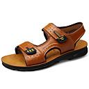 olcso Férfi szandálok-Férfi Kényelmes cipők Nappa Leather Ősz / Tavaszi nyár Klasszikus / Vintage Szandálok Upstream cipő Légáteresztő Barna