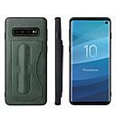 billiga Modeörhängen-fodral Till Samsung Galaxy S9 / S9 Plus / S8 Plus Korthållare / med stativ Skal Enfärgad Hårt PU läder