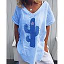 ราคาถูก ตุ้มหู-สำหรับผู้หญิง เสื้อเชิร์ต คอวี รูปเรขาคณิต ส้ม XXXL