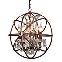 billiga Ljusdesign-4-ljus jordklot / industriell ljuskrona ljusmålad ytbehandling metall kreativ 110-120v / 220-240v