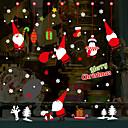 olcso Christmas Stickers-karácsonyi rajzfilm Mikulás fali matricák - sík fal matricák szállítás / táj tanulmány szoba / iroda / étkező / konyha
