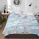 billige Badekraner-Sengetepper / Sofa kaste / Multifunksjonelle tepper, Blomstret / Klassisk / Blomster botanikk Flanell Fleece Varmer Myk comfy tepper
