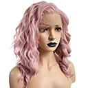 ราคาถูก วิกผมสังเคราะห์-วิกผมสังเคราะห์ลูกไม้ด้านหน้า ความหงิก Wavy แฮธาเวย์ บ๊อบตัดผม Pixie Cut ฟรี Part มีลูกไม้ด้านหน้า ผมปลอม สีชมพู Short Pink สังเคราะห์ 14 inch สำหรับผู้หญิง นุ่ม ผู้หญิง คุณภาพที่ดีที่สุด สีชมพู