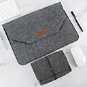 billiga Väskor, Ärmar & Fodral-naturlig ull filt bärbar dator väska beskydd väska plus strömförpackning kompatibel 11-15 tum macbook pro macbook luft laptop grå svart