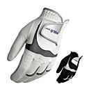 ราคาถูก อุปกรณ์เสริมสำหรับการตีกอล์ฟ-เต็มนิ้วมือ สำหรับผู้ชาย สำหรับผู้หญิง ระบายอากาศ Wearproof Sweat-wicking กอล์ฟ ถุงมือ Synthetic Microfiber PU Polyester สีดำ ขาว Golf กีฬาสันทนาการ กลางแจ้ง / ฤดูหนาว