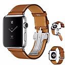 billige Smartwatch Bands-Klokkerem til Apple Watch Series 4 Apple Sommerfugle Spenne Ekte lær Håndleddsrem
