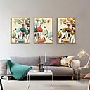 זול אומנות ממוסגרת-דפוס אומנות ממוסגרת סט ממוסגר - מופשט פרחוני / בוטני פוליסטירן איור וול ארט